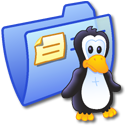 Folder Blue Linux