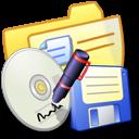 Folder Yellow Backups