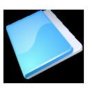 Folder close blue