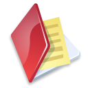 Folder documents red