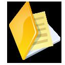 Folder documents yellow
