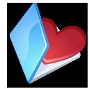 Folder favorits blue