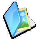 Folder image blue