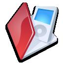 Folder ipod red