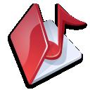 Folder music red