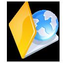 Folder web yellow