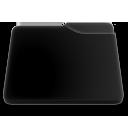 niZe   Folder Blank Open Black