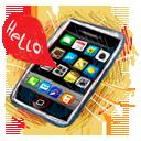 iPhone Hello 128x128