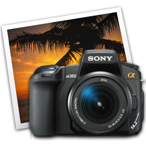 Full Size of sony a350 iphoto icon by darkdest1ny