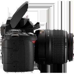 Full Size of Nikon D40 side
