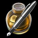 Fire w silver pen