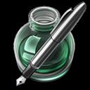 Green w silver pen