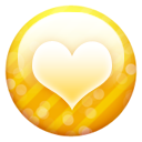 Gold button heart