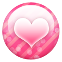 Pink button heart