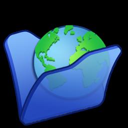 Full Size of Folder blue internet