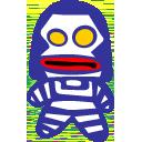 Alien Dada Blue