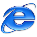 Application Internet Explorer aqua
