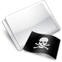 Folder Flag Skull And Crossbones