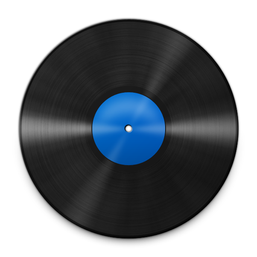 Vinyl Blue 512 icon free search download as png, ico and icns