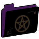 Pentacle Empty Folder (purple)