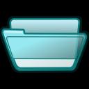 folder cyan open