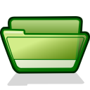folder green open