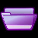 folder violet open